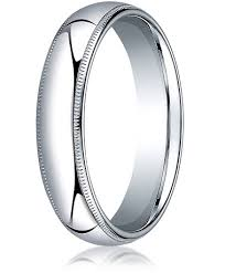 mens comfort fit wedding bands comfort fit 18k white gold wedding band 5 mm domed milgrain