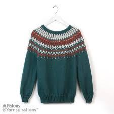 his and hers knit yoke sweaters knit yarnspirations
