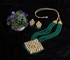 green necklace set images Artificial kundan bridal green ball necklace set at rs 7850 piece jpg