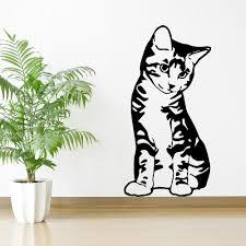 online get cheap free pet wallpapers aliexpress com alibaba group kitten cat feline pet seated sitting vinyl wall ar