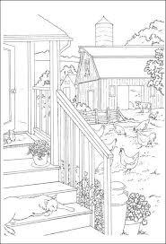 nature scene coloring pages 38 best color farm life images on pinterest coloring books