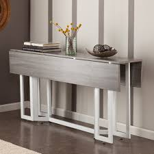 Expandable Console Table A Modern Drop Leaf Expandable Console Table That Converts Into A