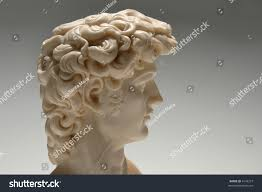 replica marble statue david profile over stock photo 4144273