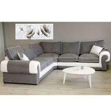 canapé angle gris blanc canapé d angle réversible tissu gris et pvc blanc jamaïca dya