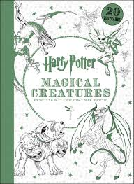 harry potter magical creatures postcard coloring book scholastic