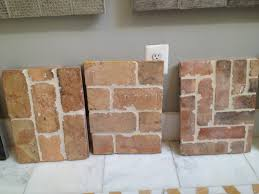 faux brick backsplash in kitchen tile that looks like brick pin it like image for the home