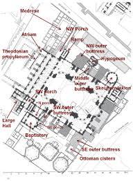 floor plan of hagia sophia hagia sophia project ústav pro klasickou archeologii