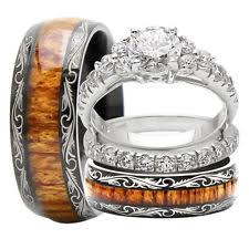 wedding sets his and hers his and hers wedding bands ebay
