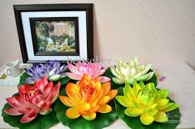 Fake Flowers For Home Decor Artificial Flowers Silk Lotus Flower Floating Water Flower Fish