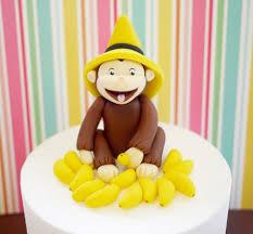curious george cake topper curious george cake topper fodant curious george cake topper