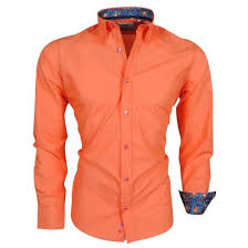 design hemd pontto fashion italienisch design hemd pontto club orange
