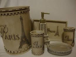 themed accessories themed bathroom set myideasbedroomcom parisian bathroom