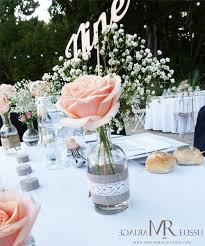 centre table mariage centre de table bohème chic mini vase avec et gypsophile