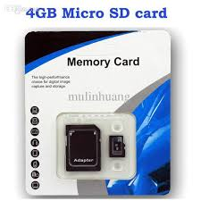 wholesale dhl genuine 4gb micro sd card tf memory card class 10