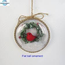 flat clear plastic ornament w snowing