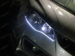 honda civic headlight headlight led strips on honda civic with type r headlight