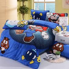 Mario Bros Bed Set Mario Brothers Children Room Decoration 3pcs Bed
