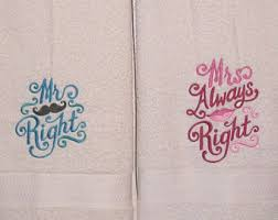 his and hers wedding gifts his and hers towel etsy