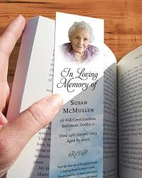 memorial bookmarks memorial bookmarks print ready