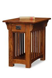 hardwood 10 inch chairside end table leick 8206 mission chair side end table with storage drawer and