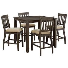 dresbar dining room table d485 13 ashley furniture square dining room counter table