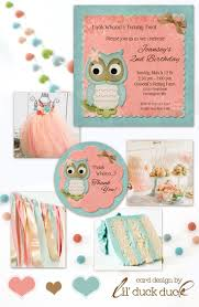owl birthday party coral aqua birthday party ideas owl themes unique colors