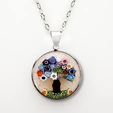 jewelry tree of pendant murano glass
