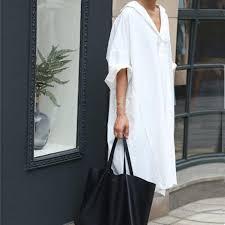 2017 women u0027s summer long shirts dresses female casual tops white