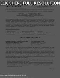Physical Security Specialist Resume Sample Of Federal Resume Gallery Creawizard Com