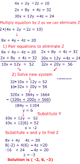 solving systems of equations by elimination worksheet how to solve systems of 3 variable equations using