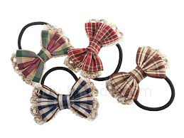 ribbon hair bands hair band with checks pattern