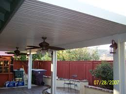 decorating awesome alumawood patio cover with brown poles and