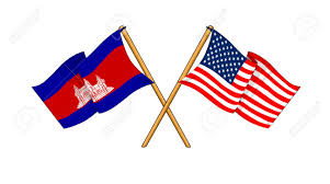 Cambodia Flag Cartoon Like Drawings Of Flags Showing Friendship Between Cambodia