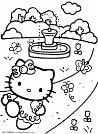 kitty birthday coloring pages kids coloring pages 129845