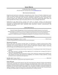 Objective Examples For Resumes by Maintenance Resume Objective Examples Recentresumes Com