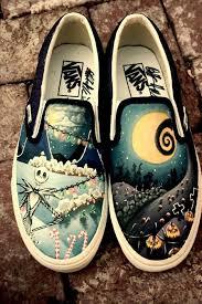 2014 vans diy artwork shoes the nightmare before