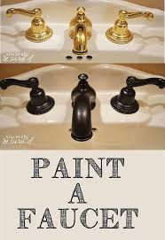 Brass Faucets Bathroom by Painting Bathroom Faucet Hometalk
