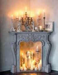 fireplace with candles binhminh decoration