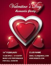 valentine u0027s day flyer psd templates free download all design