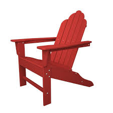 Patio Furniture Made From Recycled Plastic Milk Jugs Hanover All Weather Patio Adirondack Chair In Sunset Red Hvlna10sr