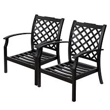 Black Patio Chair Black Patio Chairs Shop Allen Roth Carrinbridge 2 Count