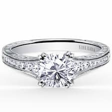 engraving on engagement ring kirk kara stella engraved diamond engagement ring