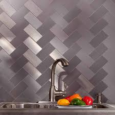 kitchen backsplash stainless steel stove backsplash metal tiles