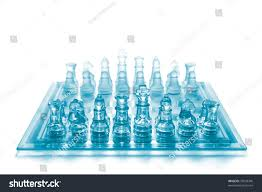 Glass Chess Boards Glass Chess On Chess Board Stock Photo 72033340 Shutterstock