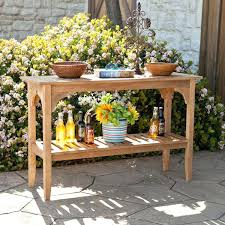 Patio Sideboard Table All Weather Wicker Outdoor Sideboard Console Storage Table
