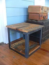 Build Wooden End Table by Rustic Industrial Coffee Side Table 17 Wide X 31 Long X 25 3 4