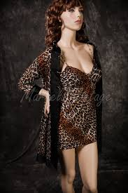 Vanity Fair Gowns And Robes Vintage Vanity Fair Lingerie Leopard Print Babydoll Short