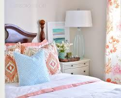 Coral Aqua Bedroom Coral Aqua Guest Room Centsational Style