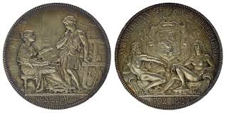 chambre des commerces lyon medal from 1880 token chambre de commerce lyon from 1702