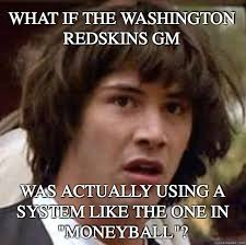 Funny Washington Redskins Memes - what if the washington redskins gm was actually using a system like